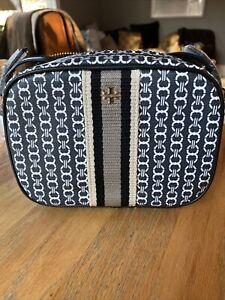 Tory Burch Gemini Link Coated Canvas Crossbody Mini Bag Black 57743 NWT $198