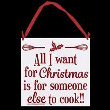 Navidad Brillo Rojo Placa Decoración - Alguien demás To Cook