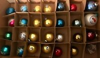 Vintage Christmas Ornaments - Lot of 28, Glass,Shiny Brites Hand Painted, Others