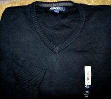 NEW W/TAGS~NAVY BLUE VEE NECK SWEATER~100% COTTON~MENS XXL
