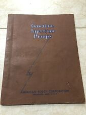 AMERICAN BOSCH GASOLINE INJECTION PUMP BROCHURE CATALOG 1945