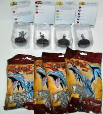 HEROCLIX YU-GI-OH SERIES 1 LOT OF (4) CARDS ARE DAMAGED #C JUST AS PICTURED
