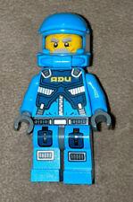 Lego Adu Pilot minifig Minifigure Alien Conquest Space Police Rare Htf Cop Guy