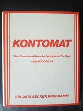 Kontomat (Data Becker) Commodore c64 disquete (disquete + Manual)