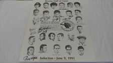 1991 IBHOF Boxing Induction Autographed 16x20 Poster JSA LOA COA Pep Patterson