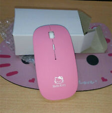 Hello Kitty USB Wireless Mouse 2.4G Laptop Portable Computer Free Mouse Pad Pink