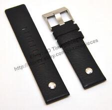 Comp. Diesel DZ7257, DZ7286 , DZ7363 - 24mm Black Leather Watch Strap Band