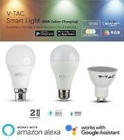 LED Smart Bulb B22 E27 GU10 Wi-Fi App Control & Works with Alexa & Google Home
