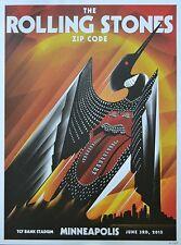 Rolling Stones Minneapolis June 3rd 2015 Official Concert Poster Mondo Rare #ed