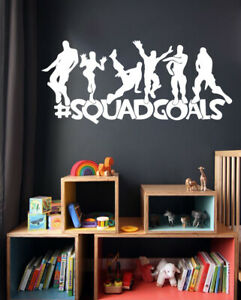 #Squadgoals Fort Decal Nite Squad Gamers Vinyl Wall Sticker Decals Gaming Room