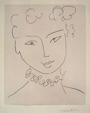 "HENRI MATISSE Hand Signed 1951 Original Lithograph - ""Pour Versailles"""