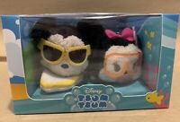 "Disney Store USA Hawaii Mickey & Minnie Mouse Tsum Plush Mini 3.5"" New in Box"