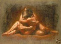 ZWPT1460  100% hand painted naked lover portrait oil painting art on Canvas