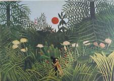 Rousseau Henri: Landscape Forest Virgin - Lithography Original Signed #1976