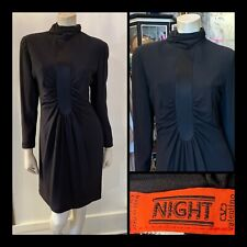 VINTAGE VALENTINO NIGHT Black dress Long Sleeve LBD Sz S