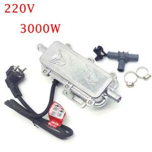 220V 3000W Aluminium Car Engine Coolant Heater Preheater Pump Fast Start 65-70 ℃