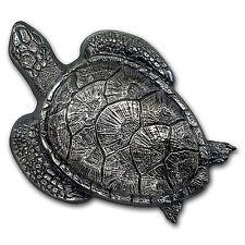 2017 Palau 45 gram Silver Antique Finish Sea Turtle - SKU #150404