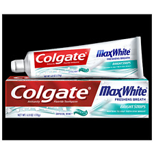 Colgate MaxWhite Toothpaste, Crystal Mint, 6.0 oz (Pack of 6)