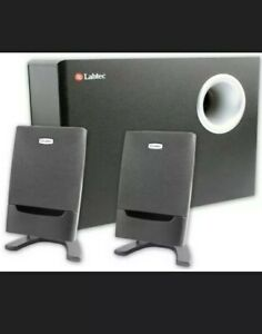 Labtec Pulse 475 Computer Speakers Left, Right, and Base Subwoofer Receiver
