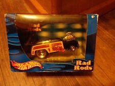 2002 HOT WHEELS RAD RODS--BLACK '50 FORD WOODY CAR (NEW)