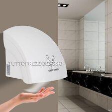 Asciugamani elettrico fotocellula automatico getto aria calda da parete x hotel