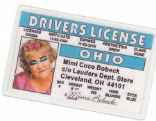 Drew Carey Show gal MIMO COCO BOBECK novelty collectors id card Drivers License