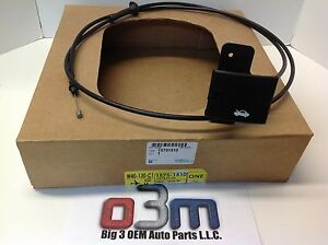 Chevrolet Express GMC Savana Primary Hood Latch Release CABLE w/ Handle new OEM