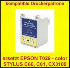 Comp. cartouche pour Epson stylus c50 c60 c61 cx3100 * remplace t029 Color sans emballage d'origine