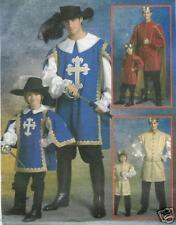OOP Boys King 3 Musketeers PATTERN Medieval Prince costume McCalls 5214 sz 3-8