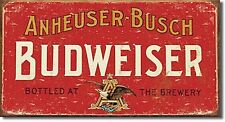 Budweiser weathered metal Wall Sign (red)  400mm x 220mm (sf)
