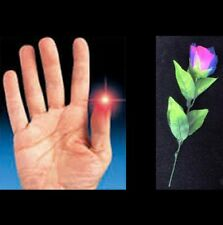 MAGIC TRICK COMBO THUMB LIGHT GIMMICKS 2 EXTRA BRIGHT RED & LIGHT UP ROSE