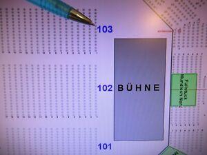 Bryan Adams Mannheim 17.03.22 bis 3 x Sitzplätze erste Reihe vor Bühne Block 103