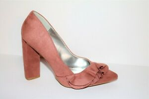 Qupid Brand Dusty Rose Faux Suede Heels Size 6.5 NEW