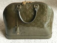 Superb Louis Vuitton Alma Vernis GM Handbag in Vert Bronze with Dust Cover & Tag
