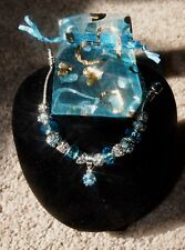 Bracelet blue Murano beads. Brand new comes with a lace bag.