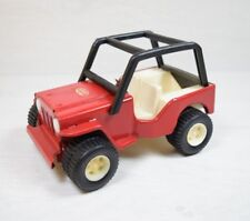 Vintage Collectible Russian MIR 75 МИР Military Red Jeep Tin Toy Car Vehicle