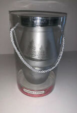 """YANKEE CANDLE """"Frosted Trees"""" Tea Light Holder with Shade & 3 Balsam & Cedar T/L"""