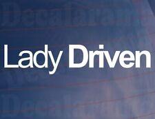 Car Sticker LADY DRIVEN Novelty Funny Girly Van Truck Window Bumper Door Boot
