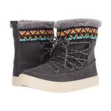 Toms Women's Boots Size 6 Gray Suede Alpine Waterproof Faux Fur
