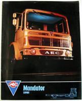 AEC Mandator Export Original Commercial Sales Brochure 1966 #Lit No. 960 4.66