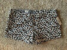 Women's Juniors Volcom Frochickie 2.5 Chino Leopard Animal Print Shorts Sz 11