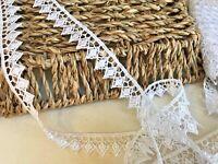 "15mm/5/8"" Pretty White Diamond Patterned Guipure Lace Trim *FREE 1ST CLASS POST*"