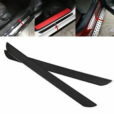 """2X19"""" Carbon Fiber Car Door Sill Cover Panel Step Protector for Ford F150 15-18"""