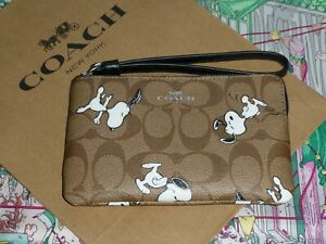 Coach X Peanuts Snoopy  Pouch / Purse - Wristlet Style Wallet SOLD OUT!