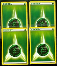 Pokemon GRASS ENERGY 132/146 - XY MINT! 4X