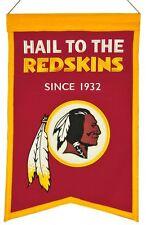 Washington Redskins Wool Franchise Banner (New) Nfl Man Cave Sign Wall Flag