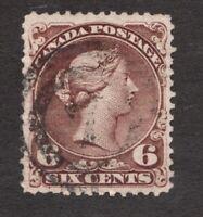 #27 - Canada - 1868 - 6 Cent - Used  - F/VF - cv$130 - superfleas