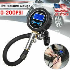 Car Tyre Pressure Gauge Motorbike Digital Air Auto Tire Meter Tester 0-200PSI