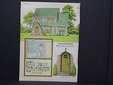 Houses, Homes, American Builder c.1927, One Double Sided Print #08