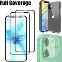 For iPhone 12/Pro/Max/Mini Case Clear Slim Cover,Camera Lens Screen Protector ☸☸